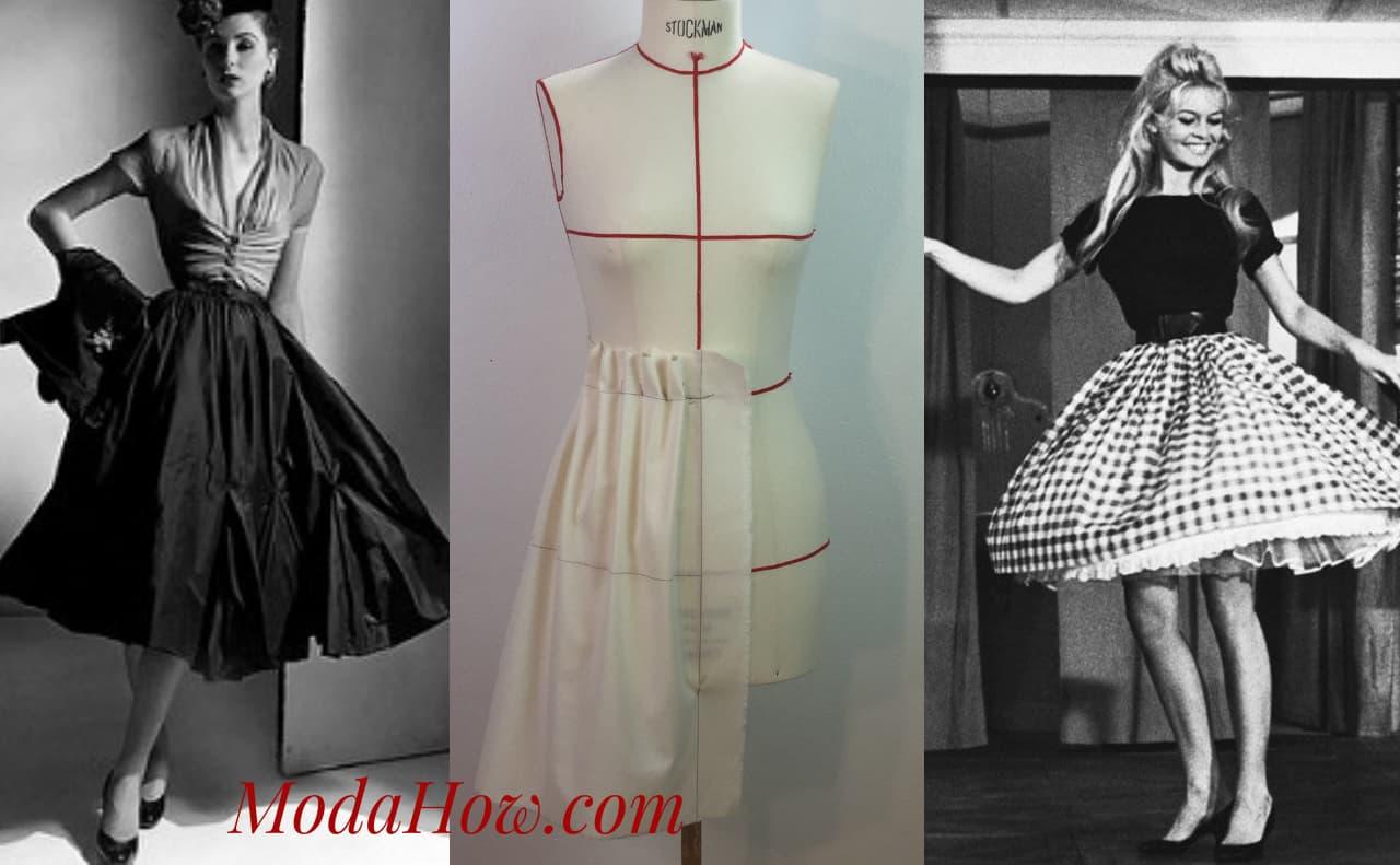 French Gathered Skirt Work