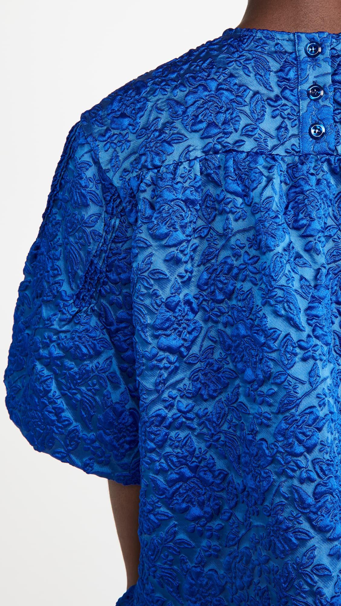 Simone Rocha blue dress detail