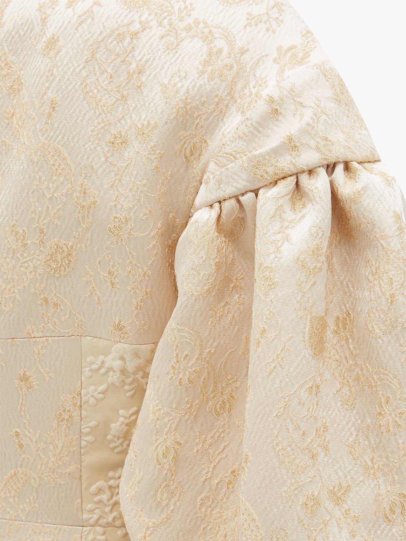 Simone Rocha Gathered Sleeves Cream Dress Detail