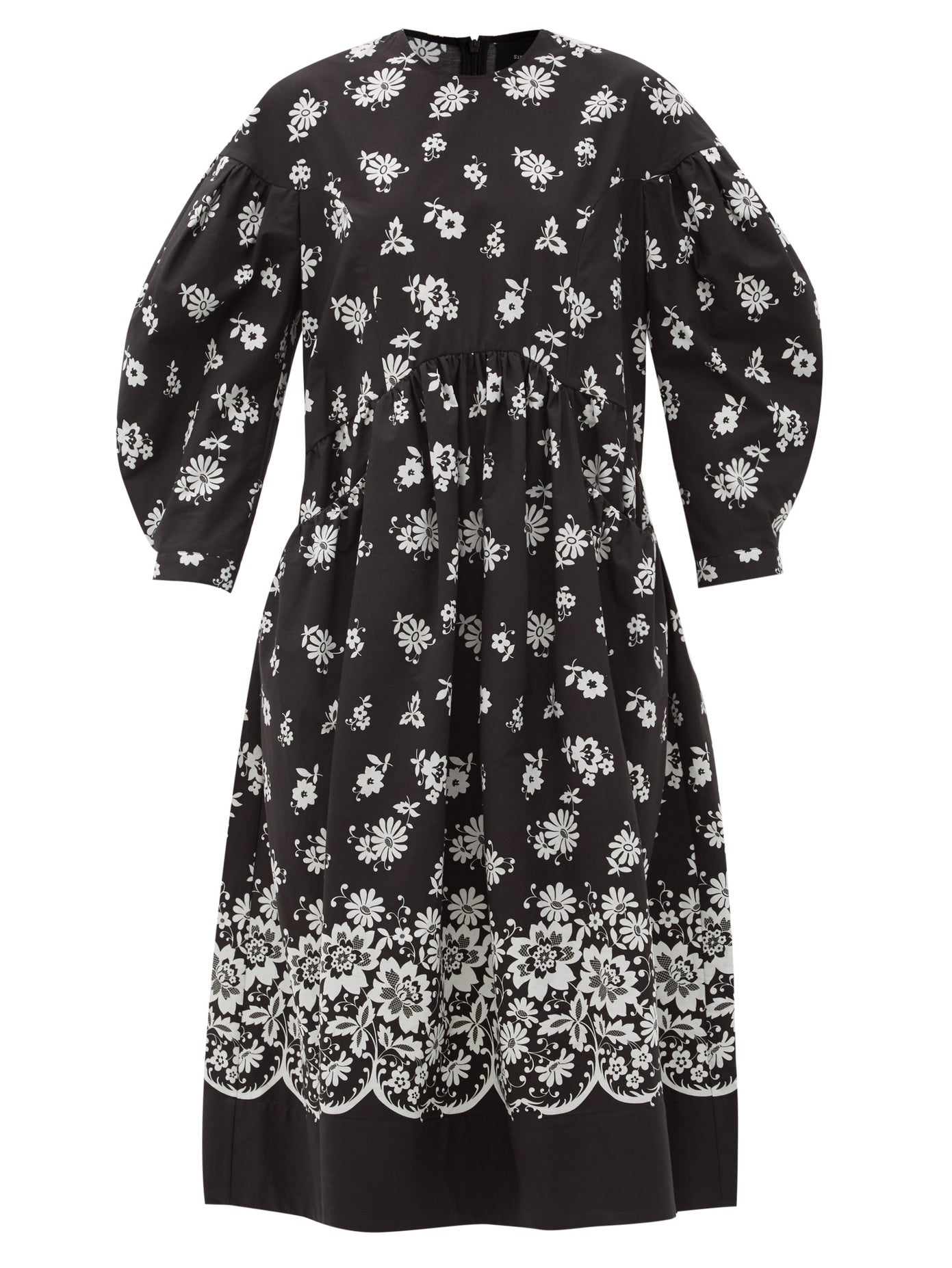 Simone Rocha Black floral dress