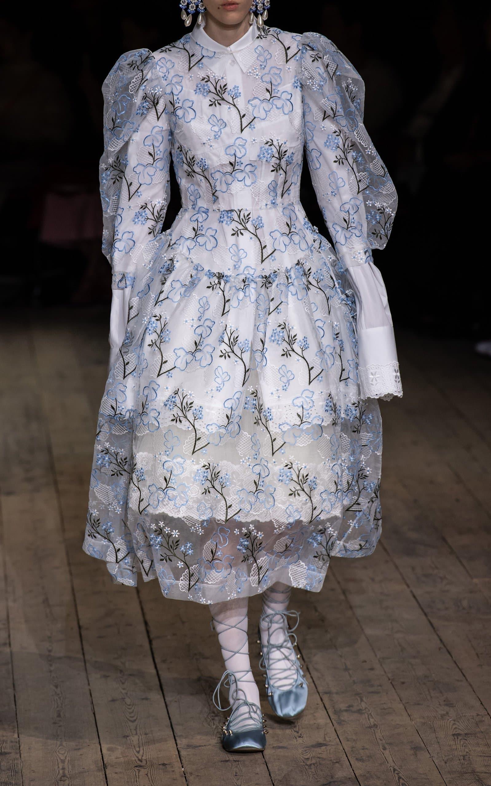 Simone Rocha White and Blue dress